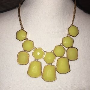 Yellow and Gold Fashion Necklace